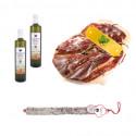 PACK Olive Oil Extra glass bottle 0,75 Lts + Green Label Dry Shoulder