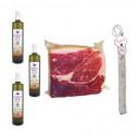 Pack Huile d'olive bouteille + Salchichon VELA + Label noir Épaule