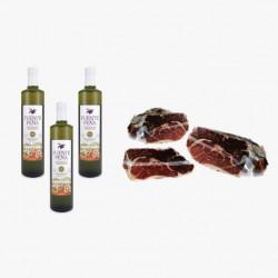 Pack Olivenöl Virgen Extra + Green Label Schulter