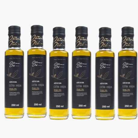 6 Glasflasche Olivenöl 0,25L