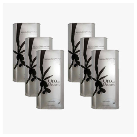 6 x Organic Olive Oil Extra - Can of 1L