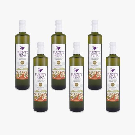 6 Olivenöl Glasflasche Extra BIO 500ml