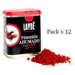 Lot x 12 Sélection espagnole de paprika fumé
