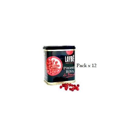Lot x 12 Boîte de poivre rose