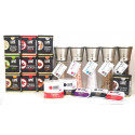 Pack x 6 Cristal-Inox Salt Petals Mill with Sweet Paprika