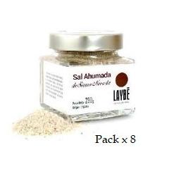 Pack x 8 Glas mit geräuchertem Salz aus der Sierra Nevada